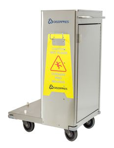 transport trolley / for operating rooms / waste / with bucket