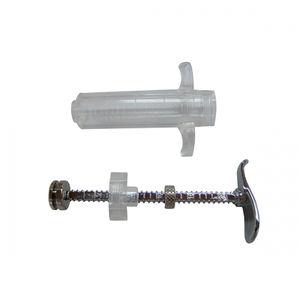 hypodermic syringe / veterinary / plastic / reusable