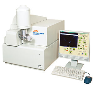 automatic sample preparation system / for electron microscopy / slicing / cryogenization
