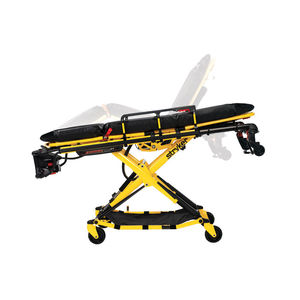 ambulance stretcher trolley / electro-hydraulic / height-adjustable / 3 sections