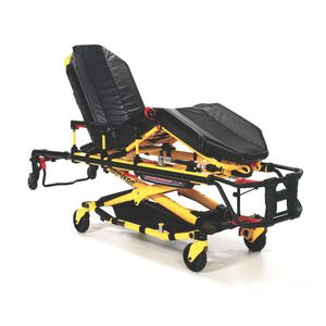 ambulance stretcher trolley / hydraulic / height-adjustable / 3 sections