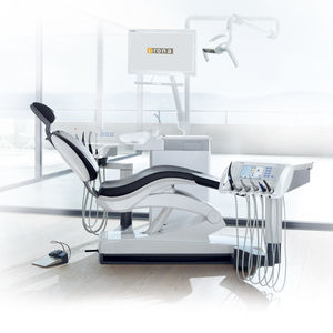 dental unit with LED light / with monitor / with adjustable headrest / with intraoral camera