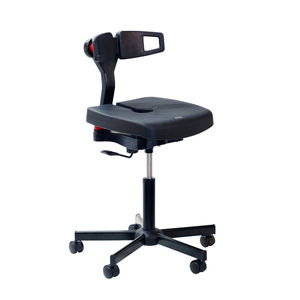 office chair / laboratory / on casters / ergonomic
