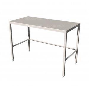 work table / rectangular / stainless steel