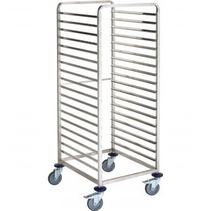 storage trolley / for instruments / medical / stainless steel