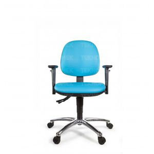 clean room chair / with armrests / on casters / with footrest