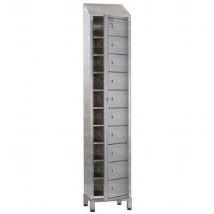 storage locker / for linen / hospital / stainless steel