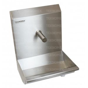 medical sink / 1-station / stainless steel / wall-mount