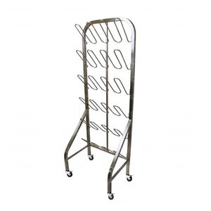 storage rack / for shoes / mobile / stainless steel