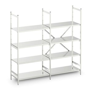 modular shelving unit / open-structure / stainless steel