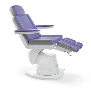 podiatry examination chair / electropneumatic / height-adjustable / with adjustable backrest