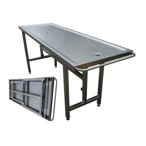 folding embalming table / stainless steel