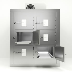 6-body refrigerated mortuary cabinet