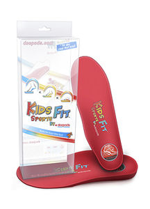 orthopedic insole with heel pad / pediatric