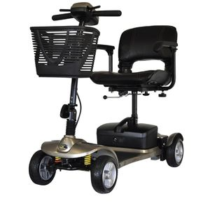 4-wheel electric scooter / folding / with basket
