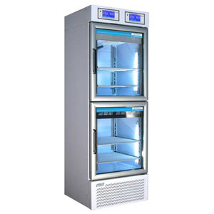laboratory refrigerator / cabinet / stainless steel / with independent circuits