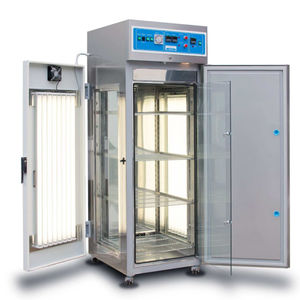 cooling laboratory incubator / for sample storage / floor-standing / stainless steel