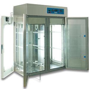 sample storage laboratory incubator / floor-standing / cooling / stainless steel