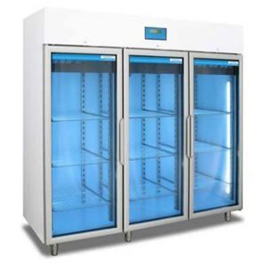 blood bank refrigerator / cabinet / with automatic defrost / stainless steel