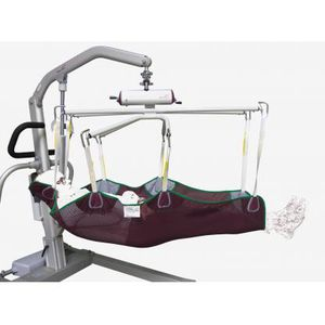 patient lift sling / repositioning / for stretcher trolleys / with head support