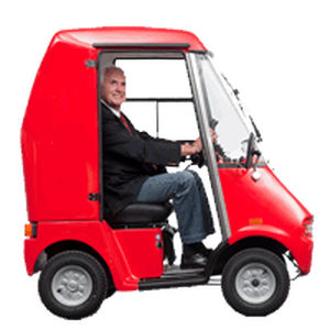 4-wheel electric scooter / with cabin