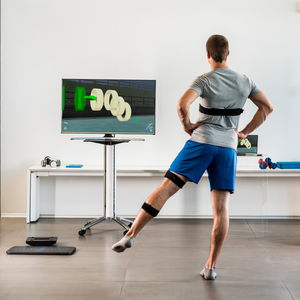 virtual rehabilitation system with serious games / with interactive workout / with virtual reality system