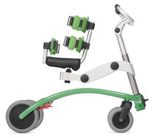 4-caster rollator / with seat / pediatric