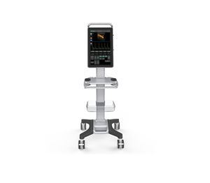 color veterinary doppler / trolley-mounted / with touchscreen