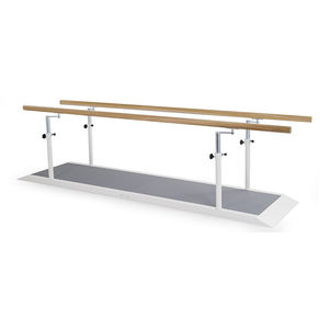 height-adjustable rehabilitation parallel bars / with base