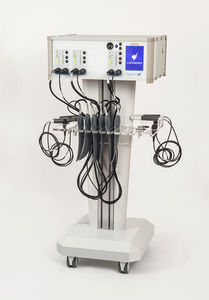 tecar therapy unit / trolley-mounted / 3-channel