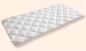 hospital bed mattress overlay / fire-resistant / honeycomb / anti-decubitus