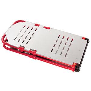 aluminum backboard stretcher / folding / with head immobilizer