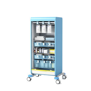 treatment trolley / medicine distribution / storage / for instruments