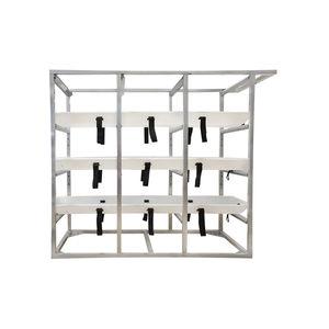 mortuary stretcher storage rack
