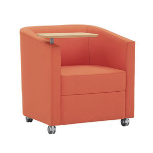 chair with armrests / on casters / with table / swivel
