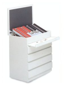 instrument cabinet / 4-drawer / with tray