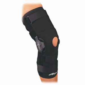 knee orthosis / knee ligament stabilization / open knee / articulated
