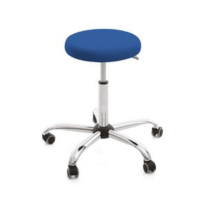 doctor's office stool / height-adjustable / on casters