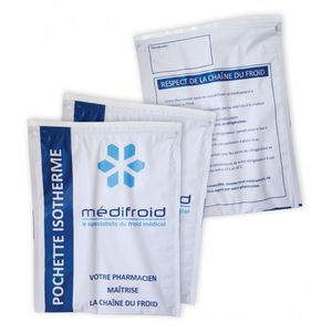 biological products packaging pouch / for pharmaceutical products / isothermal