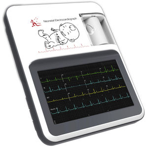 12-channel pediatric electrocardiograph / digital / with printer / with display