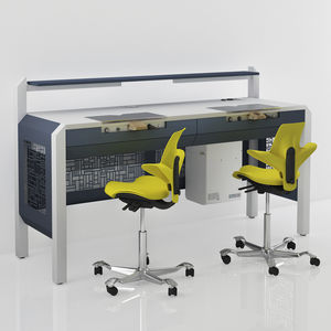 double dental laboratory workstation