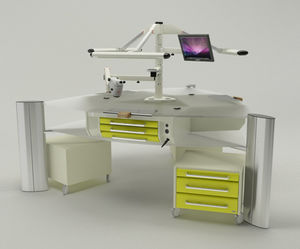 dental laboratory workstation with monitor