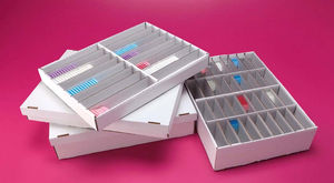 tissue sample container / for biological samples / for microscope slides