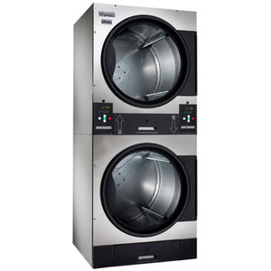 coin-operated clothes dryer / stacked / front-loading / electric