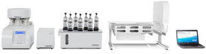 dissolution testing system / for the pharmaceutical industry / benchtop / flow-through