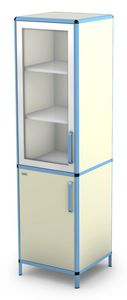 hospital cabinet / with shelf / with drawer / 2-door