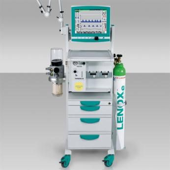Anesthesia cart / 4-drawer / with oxygen cylinder holder / modular