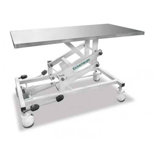 veterinary examination table / hydraulic / height-adjustable / on casters