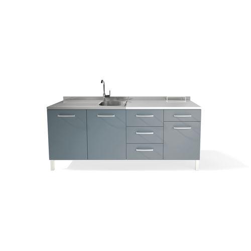storage cabinet / for dental instruments / hospital / with drawer