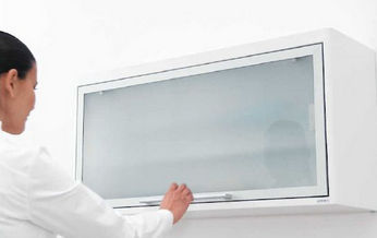 storage cabinet / for dental instruments / with door / wall-mounted